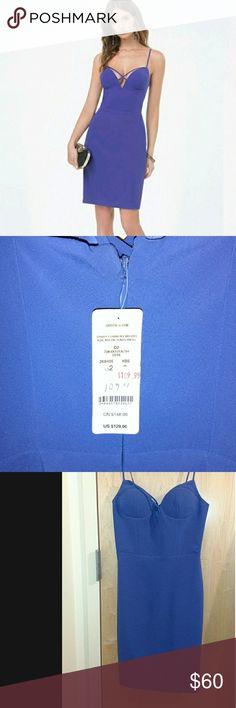 Royal blue bebe dress NWT Royal blue strappy dress. Brand new with tags. bebe Dresses Mini