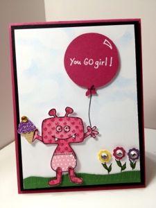 Karen's Kraft Room: You Go Girl. Hannah's Potty training card