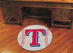 "MLB - Texas Rangers Baseball Mat 27"" diameter"