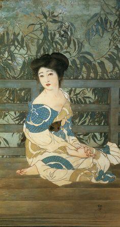 by 北野恒富 Kitano Tsunetomi Yokugo - 1912 - Kyoto Museum of Art Illustrations, Illustration Art, Botanical Illustration, Samurai, Art Asiatique, Art Japonais, Japanese Painting, Chinese Painting, Japanese Prints