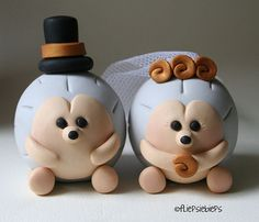 Hedgehog Wedding Cake Topper