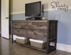 Ana White   Build a Wide Cabin Dresser Metal Slides   Free and Easy DIY Project and Furniture Plans Brandon Hoelscher 2/11