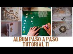 ÁLBUM PASO A PASO - TUTORIAL 11: DECORACIÓN DE LA PORTADA, FLORES Y ADORNOS - YouTube