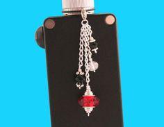 Red Silver and Black Vape Charm  Vape Bling  by VapingTreasures