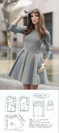 Выкройка женского платья. Размеры 36-46 евро (Шитье и крой)   Журнал Вдохновение Рукодельницы