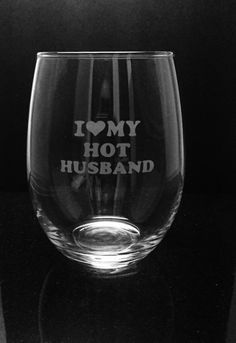 Hot husband wineglass Bride wine glass by ExpressionsGlassware