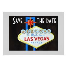 Las Vegas Wedding Invitations Las Vegas Wedding Save the Date Card