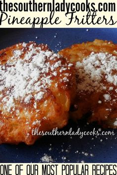 Wonderful, easy recipe for pineapple fritters. Great with coffee or as a snack anytime. Wonderful, easy recipe for pineapple fritters. Great with coffee or as a snack anytime. Pineapple Fritters, Pineapple Bread, Pineapple Recipes Easy, Crushed Pineapple, Oreo Dessert, Dessert Food, Mini Desserts, Most Popular Recipes, Favorite Recipes
