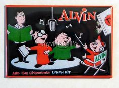 "Vintage ALVIN and The CHIPMUNKS Lunchbox 2"" x 3"" Fridge MAGNET Art"