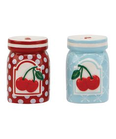 Take a look at this Kitchen Cherry Salt & Pepper Shakers by C.R. Gibson on #zulily today!