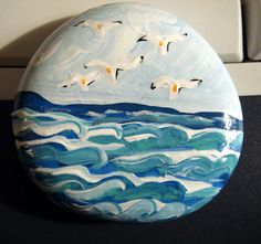 You Can Dream...Ocean Scene with birds number by rebeccascreations, $5.00
