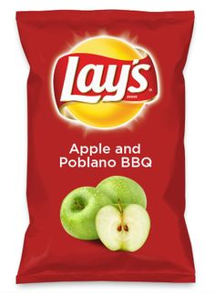 Wouldn't Apple and Poblano BBQ be yummy as a chip? Lay's Do Us A Flavor is back, and the search is on for the yummiest flavor idea. Create a flavor, choose a chip and you could win $1 million! https://www.dousaflavor.com See Rules.