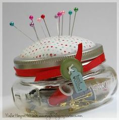 Mason Jar Sewing Kit - Great for travelling!
