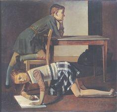 Balthus, Die Kinder Blanchard, 1937, Öl auf Leinwand, 125 x 130 cm, Musée national Picasso, Paris © Foto: MONDADORI PORTFOLIO/Leemage/Paris, Musée Picasso/Photo Josse © Balthus 2016