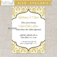 Printable 50th Anniversary Party by whirligigspartyco on Etsy