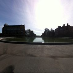 360 of Drumheller Fountain on the UW Campus