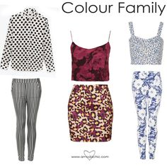 mixing patterns www.amodachic.com - COLOUR FAMILY