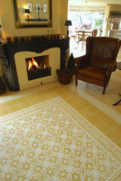 Castelo tiles®- www.castelotiles.com 20x20cm Classic Collection - Yellow and White - 9011GE-1011-9018GE-9019GE
