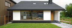 This small Japanese bungalow, designed Space Architecture, is elegantly minimal and showcases strong Japanese minimalist interior design ideas. House Inside, My House, Weekend House, Space Architecture, Japanese House, Farmhouse Plans, Inspired Homes, Luxury Homes, Building A House