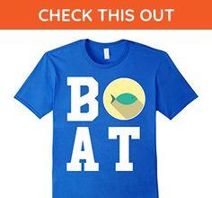 Mens Boat Captain Green Fish - Boating T-Shirt Small Royal Blue - Animal shirts (*Amazon Partner-Link)