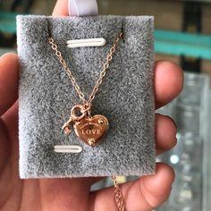 KAKANY Szív és LOVE medál nyaklánc Tif Brand Rose Szín 925 Streling ezüst Hivatkozás Charm Női New York nyaklánc Ékszer