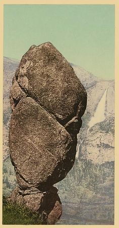 Title: Agassiz Rock, Union Point and Yosemite Falls Creator(s): Detroit Photographic Co., Date Created/Published: [between 1898 and 1905]