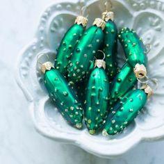 Jar of Pickles Ornament Set