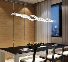New Creative modern LED pendant lights Kitchen acrylic+metal suspension hanging ceiling lamp for dinning room pendant lamp Chandelier For Sale, Hanging Chandelier, Modern Chandelier, Hanging Lights, Luxury Lighting, Modern Lighting, Interior Lighting, Lighting Ideas, Dinning Room Bar