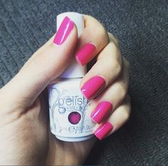 """Just landed!! One of our new Gelish gel polish's """"Gossip Girl"""" message 0414479941 for an appointment! $25 for a Gel Manicure 💋 JBx"""