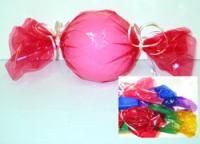 Balloon wrapped to look like candy. Great for candy themed party!