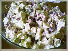 Салат из грудинки курицы и грецкого ореха