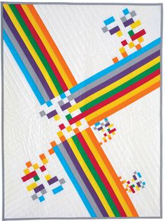 Simple piecing and offset trimming create this dynamic and intriguing modern quilt.