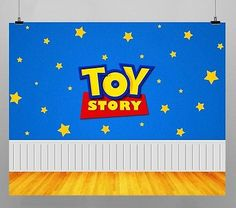 Toy Story Stars Birthday Party Decoration Kids Photo Booth Vinyl Banner Backdrop