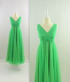 Vintage 1970s Chiffon Cocktail Party Dress in Spring by TwoMoxie, $75.00
