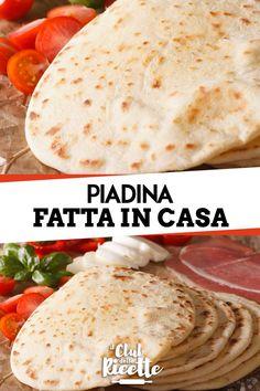 Real Food Recipes, Dessert Recipes, Cooking Recipes, Pizza E Pasta, Tortilla Wraps, Sicilian Recipes, Pan Bread, Antipasto, Crepes