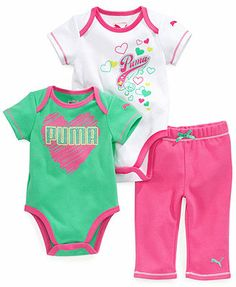 Newborn Girl Outfits, Kids Outfits, Baby Alive Food, Puma Outfit, Baby Kids Clothes, Baby Boy, Baby Girls, Baby Wearing, Future Baby