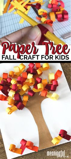 3D Curly Fall Tree Paper Craft