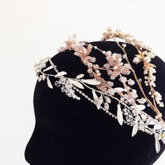 Bridal headpieces in silver, gold and rose gold