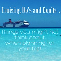 Cruising Do's and Don'ts: When I planned ahead and when I didn't plan with my head.  — RealLifary