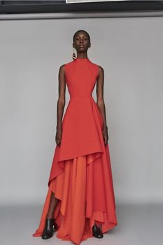 Solace London Serafine Dress Red l Womenswear l Women fashion runway look outfit gowns Fashion Design Inspiration, Mode Inspiration, Look Fashion, High Fashion, Womens Fashion, Coral Fashion, Mode Glamour, Couture Fashion, Gowns Couture