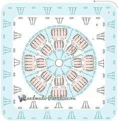 Ideas For Crochet Skirt Easy Granny Squares Crochet Squares, Crochet Motif Patterns, Crochet Blocks, Granny Square Crochet Pattern, Crochet Mandala, Crochet Diagram, Crochet Chart, Crochet Granny, Baby Blanket Crochet