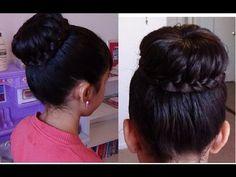 ▶ Moño/Chongo con Trenza/ Braided Bun Hair Tutorial - YouTube