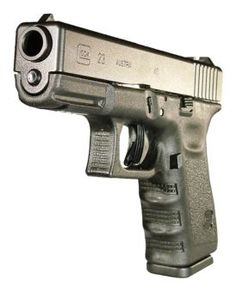 Glock 23  .40  S  :)) I am going to learn how to shoot from mr kyle and I need a gun this one is pretty!