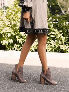 side cutout heeled booties