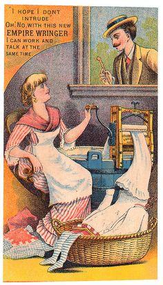 Vintage Ad for Empire Laundry Wringer