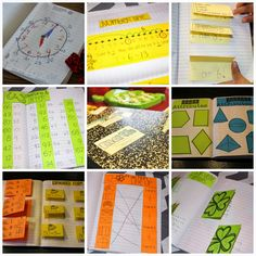 Math Journaling for the year! This post has explanation, links, and visuals all about math journaling. journal compon, math journals