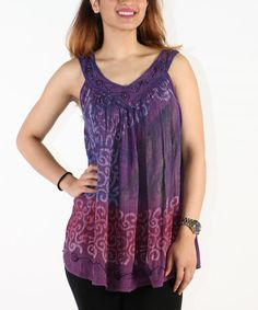 Look at this Purple Abstract Ikat Swing Tank on #zulily today!