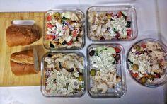 Grilled Lemon Chicken & Greek Salad Meal Prep
