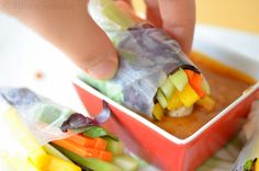 Very close to the peanut dipping sauce recipe I use, but I adjust almost all ingredients to taste. I always add more sriracha and add crushed red peppers for spicier kick. Currently looking for alternatives to coconut milk (I have an idea I will try). I don't use these exact veggies, tho. I use shrimp, red/romain lettuce, mint, basil, cucumber, bean sprouts, carrots, cilantro, & cellophane noodles.