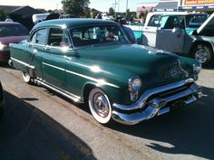 Very nice old green car. I think it was a Pontiac or Oldsmobile Green Oldie Motor Car, Deviantart, Green, Car